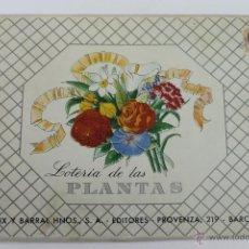 Juegos educativos: JUEGO DE LOTERIA DE LAS PLANTAS, SEIX BARRAL HNOS. BARCELONA 1945. Lote 44683662
