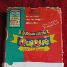 Juegos educativos: **TARJETAS,###QUIQUE CARDS### 24 TARJETAS PARA EL ORDENADOR ##QUIQUE##. Lote 72447530