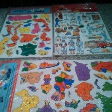 Juegos educativos: LOTE DE 3 JUEGOS DE PEGATINAS AÑOS 70 - UNISET. Lote 45950700
