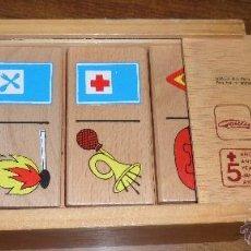 Juegos educativos: ANTIGUO DOMINO MADERA GOULA PIEZAS GRANDES CIRCULACION. Lote 46020169