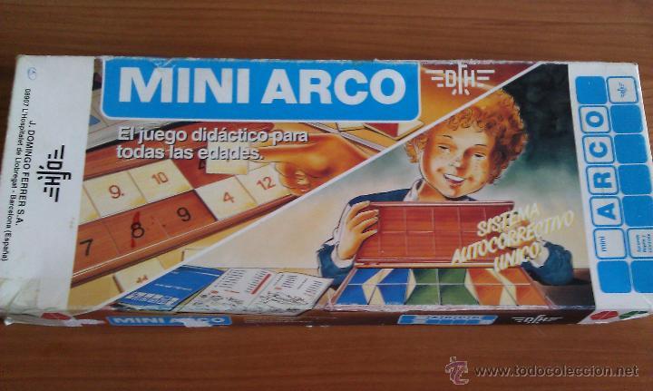 Juegos educativos: ANTIGUO JUEGO EDUCATIVO Y DIDÁCTICO MINI ARCO CON ESTUCHE DE CONTROL NARANJA CON EJERCICIOS - Foto 3 - 195244585