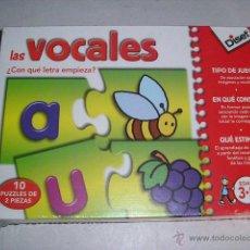 Juegos educativos: LAS VOCALES DISET - ASOCIA IMAGENES CON VOCALES 10 PUZZLES - NUEVO A ESTRENAR. Lote 46654424
