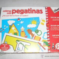 Juegos educativos: COLOREA CON PEGATINAS JUEGO EDUCATIVO DISET - CREACION Y HABILIDAD MANUAL. Lote 46654484