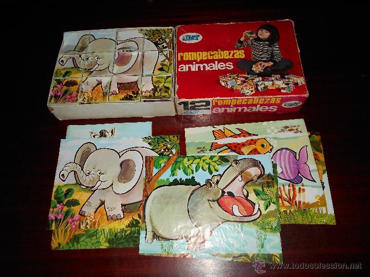 Juegos educativos: Rompecabezas ANIMALES EDICIONES JMT Años 70 RARO - Foto 2 - 47285982