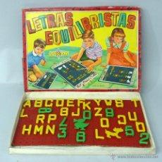 Juegos educativos: LETRAS EQUILIBRISTAS AIRGAM AÑOS 50 JUEGO EDUCATIVO. Lote 47800670
