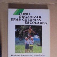 Juegos educativos: COMO ORGANIZAR UNAS COLONIAS ESCOLARES - CEAC - LLUIS AVILA MORERA - SIN USAR - DE LIBRERIA. Lote 49250518