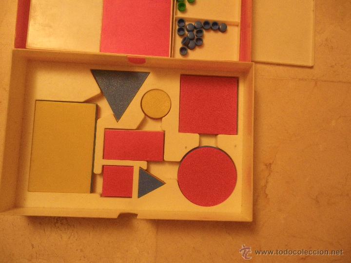 Juegos educativos: Material didáctico matemáticas EGB. Ed.Diagonal. Regletas Cuisinaire y juego figuras (falta 1 círcul - Foto 2 - 61782500
