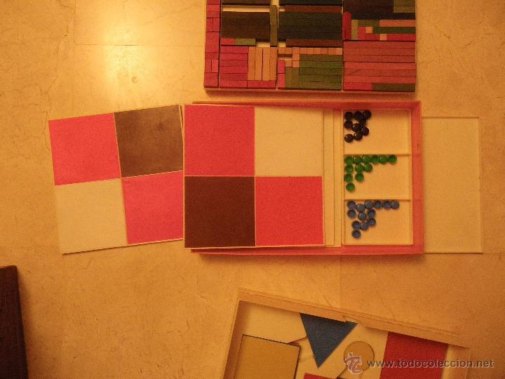 Juegos educativos: Material didáctico matemáticas EGB. Ed.Diagonal. Regletas Cuisinaire y juego figuras (falta 1 círcul - Foto 5 - 61782500