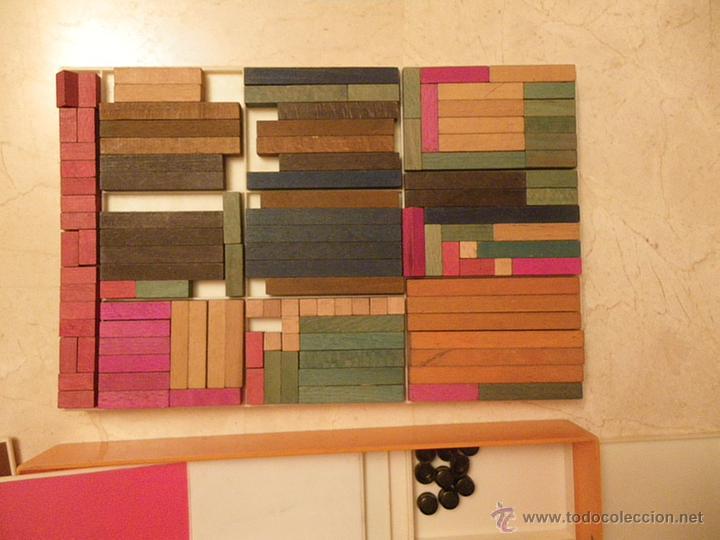 Juegos educativos: Material didáctico matemáticas EGB. Ed.Diagonal. Regletas Cuisinaire y juego figuras (falta 1 círcul - Foto 6 - 61782500
