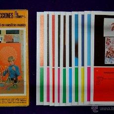 Juegos educativos: ESTUCHE CON LAMINAS ¿QUE HACER? ARTES Y CONSTRUCCIONES. FHER.1971. SIN USAR. MANUALIDADES INFANTILES. Lote 156030681