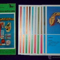 Juegos educativos: ESTUCHE CON LAMINAS ¿QUE HACER? REGALOS. FHER. 1971. SIN USAR. MANUALIDADES INFANTILES. Lote 156030738