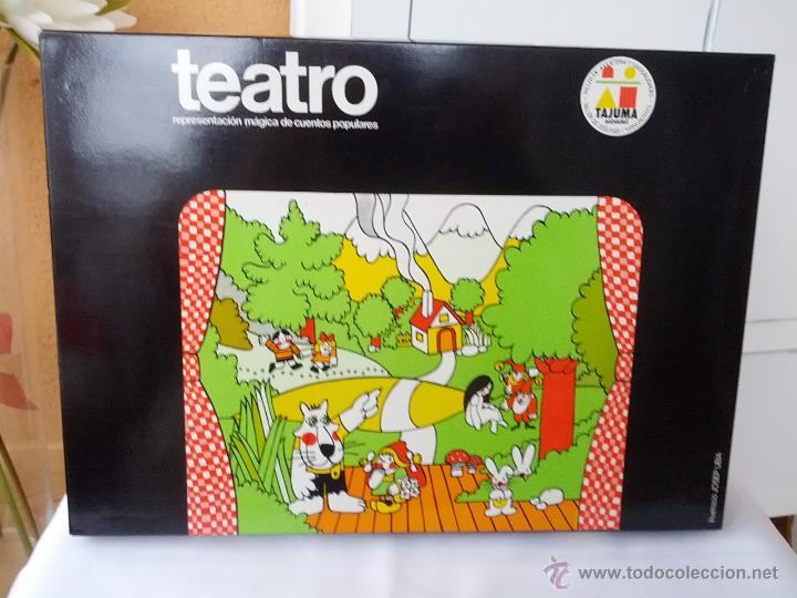 Juegos educativos: PRECIOSO TEATRO DE TAJUMA DE MADERA DESMONTABLE AÑOS 70 COMPLETO Y EN SU CAJA DE ORIGEN - Foto 3 - 50419890