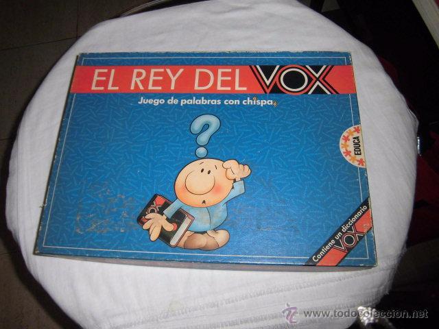 EL REY DEL VOX.JUEGO DE PALABRAS CON CHISPA.CONTIENE UN DICCIONARIO VOX JUEGO COMPLETO (Juguetes - Juegos - Educativos)