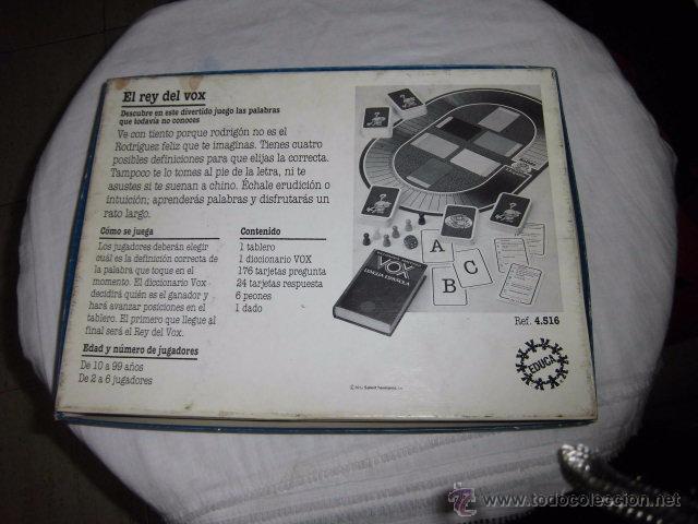 Juegos educativos: EL REY DEL VOX.JUEGO DE PALABRAS CON CHISPA.CONTIENE UN DICCIONARIO VOX JUEGO COMPLETO - Foto 6 - 51429989