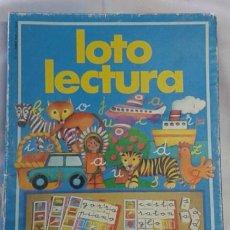 Juegos educativos: JUEGO LOTO LECTURA - EDUCA - AÑOS 70 - 4 TABLEROS Y 140 LETRAS - 4/8 AÑOS 21 X 27 CM - 1/4 JUGADORES. Lote 51567437