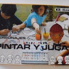Juegos educativos: PINTAR Y JUGAR PELIKAN, PERSONAJES, AÑOS 70(NUEVO). Lote 51924992