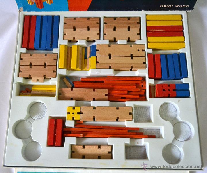 Juegos educativos: JUEGO DE CONSTRUCCION ANTIGUO * CONSTRUCTIONS SET MADE IN CHINA * MADERA * MUY RARO - Foto 2 - 52368177