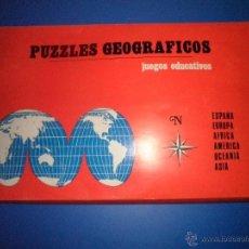 Juegos educativos: PUZZLES GEOGRAFICOS. Lote 53342177