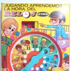 Juegos educativos: ANTIGUO JUGUETE - RELOJ INFANTIL - GEYPER REF:710 - SPAIN AÑOS 70 ¡¡ NUEVO SIN USO ¡¡¡. Lote 118494083