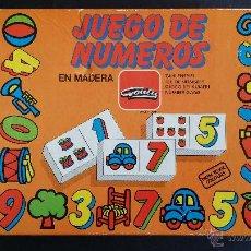 Juegos educativos: JUEGO DE NÚMEROS, EN MADERA, MARCA GOULA.. Lote 54270527