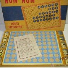 Juegos educativos: ANTIGUO JUEGO DE NOM-NUM JUGUETE INSTRUCTIVO DE CARTONAJES VENTURA DE BARCELONA COMPLETO AÑO 1956. Lote 54456145