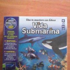 Juegos educativos: VIDA SUBMARINA EDUCA - JUEGO INTERACTIVO CON DVD. Lote 115714007
