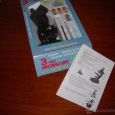 Juegos educativos: MICROSCOPIO: 3-WAY MICROSCOPE 750 X SET.. Lote 54614878