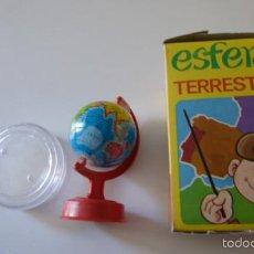 Juegos educativos: JUGUETE ANTIGUO PEQUEÑA ESFERA TERRESTRE AÑOS 70 CON SU CAJA . Lote 55379073