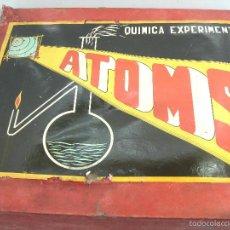 Juegos educativos: ANTIGUO JUEGO QUIMICA EXPERIMENTAL - ATOMS - AÑOS 60 - CAJA GRANDE 2 PISOS. Lote 56712217