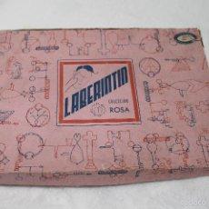 Juegos educativos: LABERINTIN JUEGO DE HABILIDAD, RARO, COLECCIÓN ROSA, SELLO BAZAR MURCIANO, PLATERIA, MURCIA. Lote 57096282