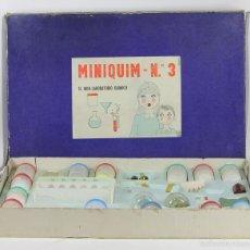Juegos educativos: MINI LABORATORIO DE QUIMICA. MINI QUIM N 3º. ESPAÑA. CIRCA 1950,. Lote 57723989