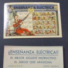 Juegos educativos: ANTIGUO FOLLETO DE PROPAGANDA DEL JUEGO ENSEÑANZA ELECTRICA. Lote 58080803