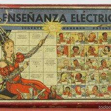 Juegos educativos: ENSEÑANZA ELECTRICA. JUEGO EDUCATIVO. JUGUETES JUAN MORALES. CIRCA 1930.. Lote 57987652