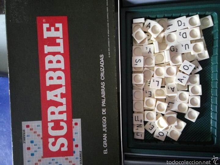 JUEGO SCRABBLE BORRAS, AÑOS 70 (Juguetes - Juegos - Educativos)