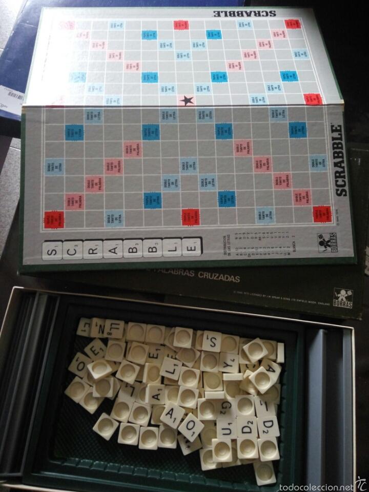 Juegos educativos: Juego scrabble borras, años 70 - Foto 2 - 58159460