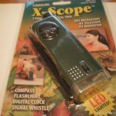 Juegos educativos: MICROSCOPIO CARSON X-SCOPE VERDE CON RELOJ DIGITAL NUEVO. Lote 117156155