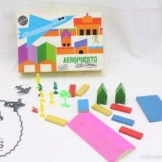 Juegos educativos: JUEGO DE CONSTRUCCIÓN DE LOS AÑOS 50-60 - JUEGOS EDUCATIVOS GOULA. AEROPUERTO - PIEZAS DE MADERA. Lote 58425361