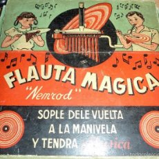 Jeux éducatifs: ANTIGUO JUEGO FLAUTA MAGICA . NEMROB BARCELONA PARTITURA DISCO LA RASPA MUY CURIOSO CAJA PRECIOSA. Lote 58504667