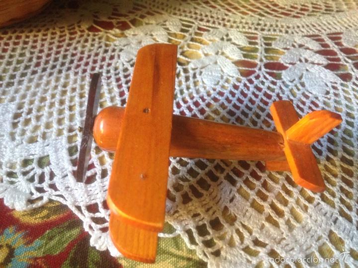 Juegos educativos: Tren y avión de madera artesanal . - Foto 2 - 60154266