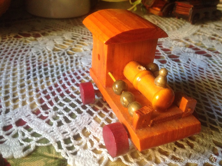 Juegos educativos: Tren y avión de madera artesanal . - Foto 8 - 60154266