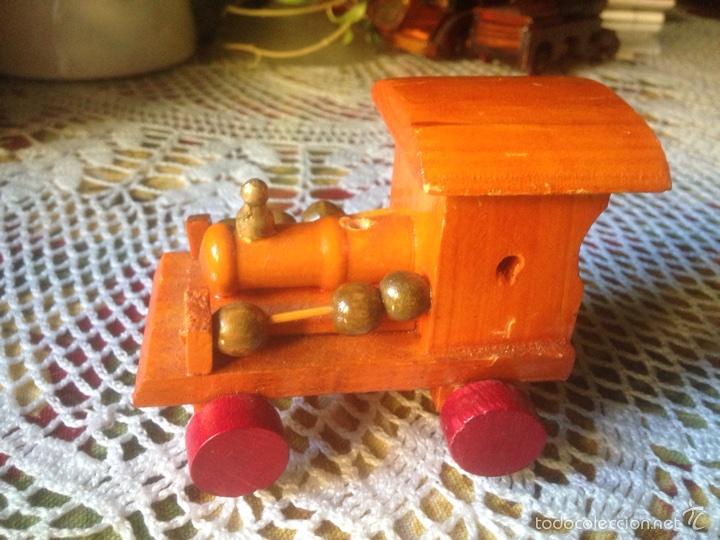 Juegos educativos: Tren y avión de madera artesanal . - Foto 9 - 60154266