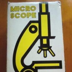 Juegos educativos: MICROSCOPE. MICROSCOPIO. MADE IN JAPAN. COMPLETO. AÑOS 70-80. Lote 60534827