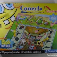 Juegos educativos: JUEGO CONECTA CONTESTA - BOB ESPONJA - CLEMENTONI. Lote 68627021
