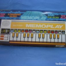 Juegos educativos: 4 JUEGO DE PIANO MEMOPLAY DE BONTEMPI. NO JUGADO. Lote 69926841