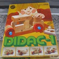 Juegos educativos: GOULA DIDAC - 1 . .JUEGO CONSTRUCCION DE MADERA. Lote 71294327