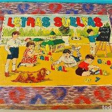 """Juegos educativos: """" LETRAS SUELTAS """" - JUEGO INFANTIL CON LETRAS Y NÚMEROS DE MADERA. AÑOS 30.. Lote 71771979"""