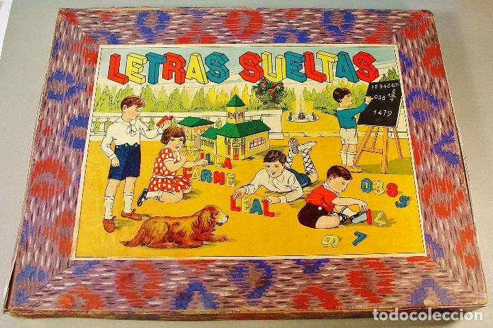 """Juegos educativos: """" LETRAS SUELTAS """" - JUEGO INFANTIL CON LETRAS Y NÚMEROS DE MADERA. AÑOS 30. - Foto 4 - 71771979"""