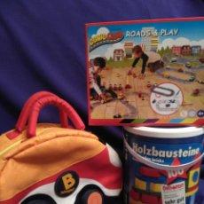 Juegos educativos: LOTE DE JUEGOS DE MADERA,CUBO DE PIEZAS,PISTA DE COCHE-PUZLE. Lote 72068079