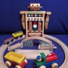 Juegos educativos: ROBOT ABACO CON TREN Y VIAS MAGNETICAS DE MADERA.. Lote 72068847