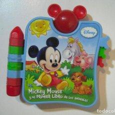 Juegos educativos: MI PRIMER LIBRO MUSICAL MICKEY CLEMENTONI - MICKEY MOUSE Y MI PRIMER LIBRO DE LOS ANIMALES - DISNEY. Lote 72275183